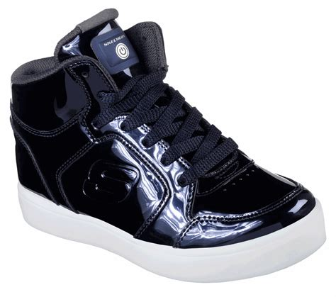 Skechers Lights by Skechers Energy Lights Light Up High Top Lace Up Navy