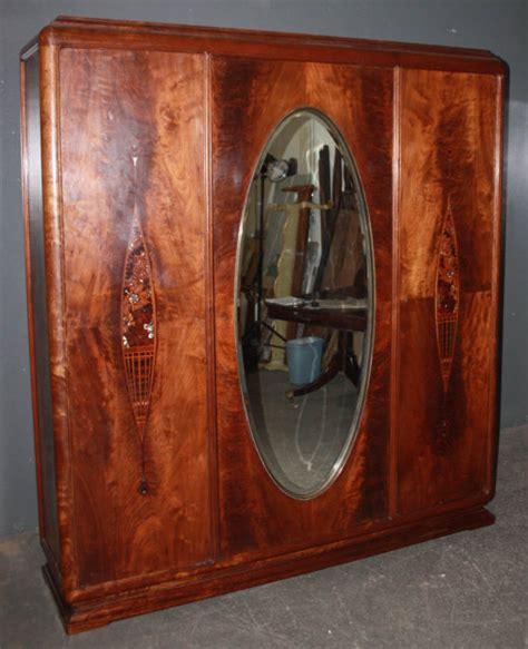art deco armoire for sale art deco crotch mahogany armoire wardrobe closet m3631 for