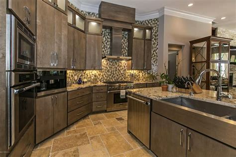 Modern Kitchen Tile Backsplash Ideas by Some Words About Kitchens With Beige Granite Counters