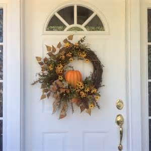 fall wreaths pumpkin wreath front door decor autumn