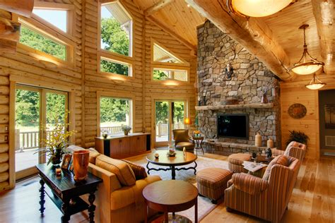 log home interiors high peaks log homes
