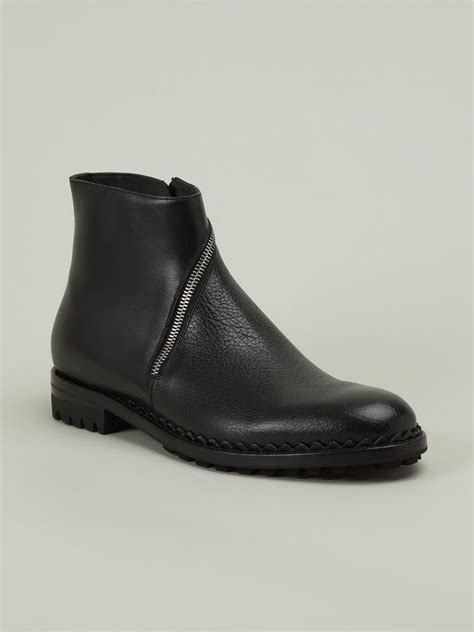balenciaga boots mens balenciaga zip ankle boots in black for lyst