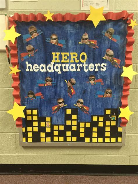 superhero bulletin boards ideas  pinterest