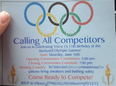 olympic invitation template olympic invitations olympic invitations with