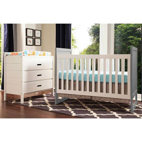 Modena 3 In 1 Crib by Baby Mod Modena Mod 2 Tone 3 In 1 Fixed Side Convertible