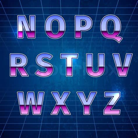 80s Retro Sci Fi Font, beautiful vector illustration