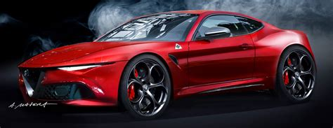 alfa romeo coupe rendering is one ride carscoops com