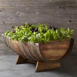 reclaimed wine barrel planter williams sonoma