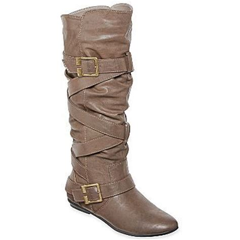 arizona strappy boots jcpenney 45 black