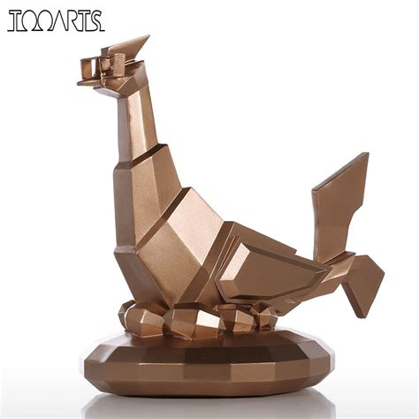 home decor statues sculptures tooarts modern sculpture glasses chicken resin sculpture