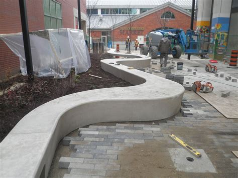 bench concrete curved concrete bench hapa collaborative news curves