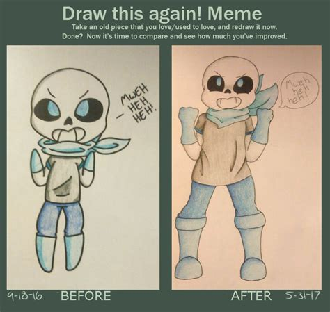 draw this again blueberry sans by turbodragon451 on