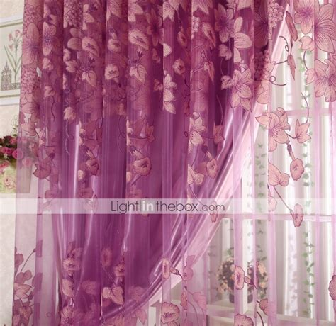 polyester sheer curtains one panel country floral living room polyester sheer