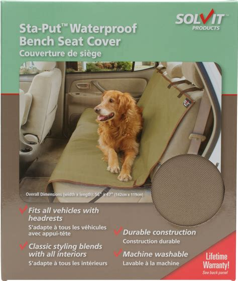 waterproof bench seat cover solvit waterproof sta put bench seat cover chewy com