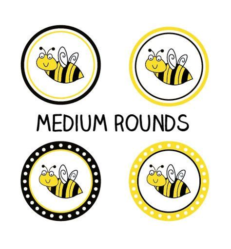 printable bee stickers printable bumble bee party rounds for stickers tags