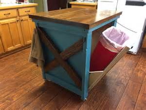 kitchen island with garbage bin ana white kitchen island with trash bin diy projects
