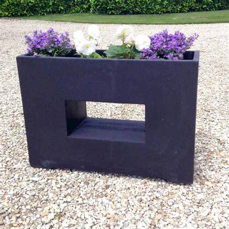 Rectangular Outdoor Planter by Modern Rectangular Garden Planter Dobies