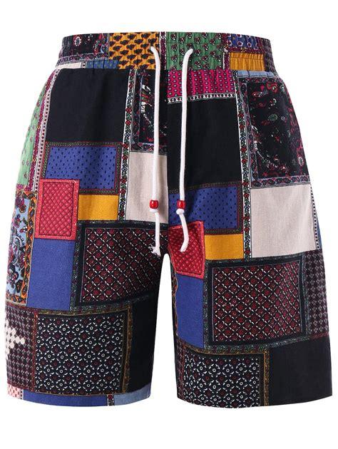 Set Hjb Tribal Birumuda 2018 panel tribal print bermuda shorts colormix xl in shorts store best fitting