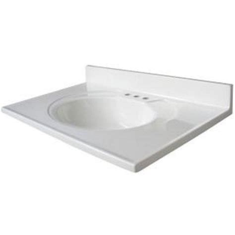 glacier bay bathroom sinks glacier bay newport 31 quot x 19 quot white marble vanity top