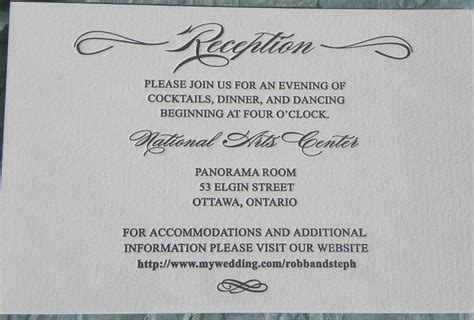 reception card wording wedding invitation ideas