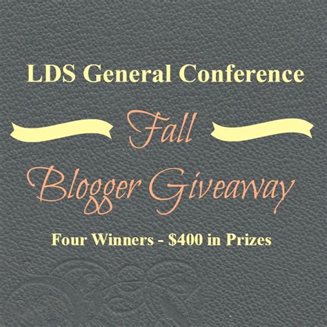 Creative Conference Giveaways - lds general conference giveaway