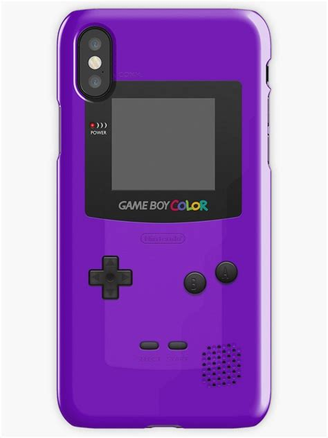 nintendo color quot purple nintendo gameboy color quot iphone cases covers by