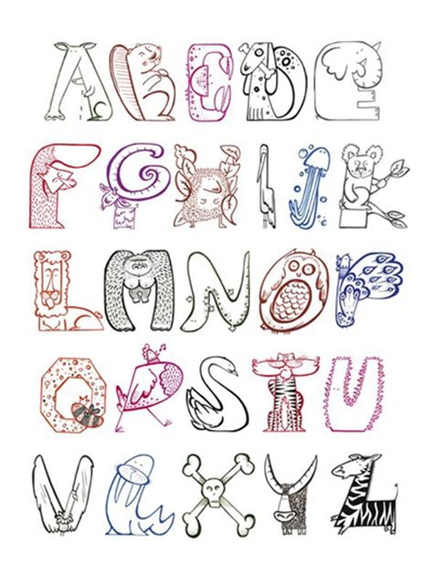 creative letters 7 best images of creative lettering styles alphabet