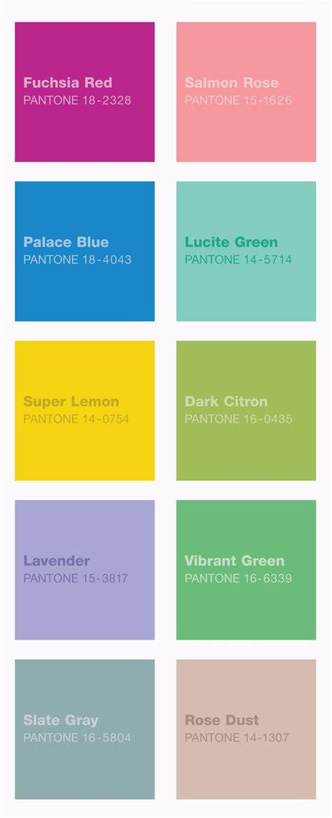 pantone color schemes spring pantone colors casa pinterest
