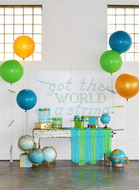 Cocktail Party Invitation Ideas - got the world on a string preschool graduation party evite