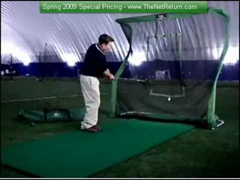 practice golf swing indoors i wanted the best indoor golf practice net youtube