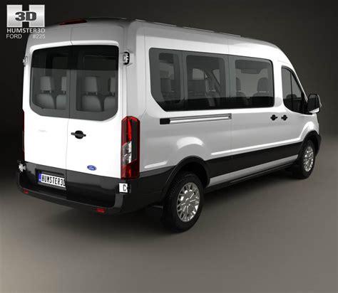 ford transit models ford transit minibus 2014 3d model hum3d