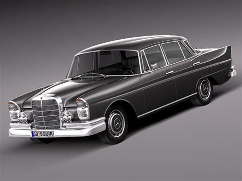 mercedes w112 mercedes 300se w112 1961 1965 3d model max obj 3ds
