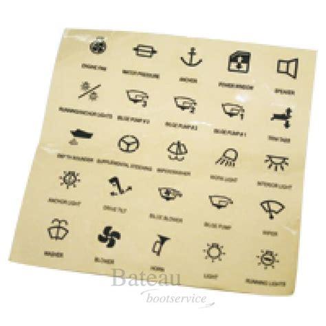 Sticker Produk Merk Br 205 stickers voor schakelpaneel transparant schakelpaneel