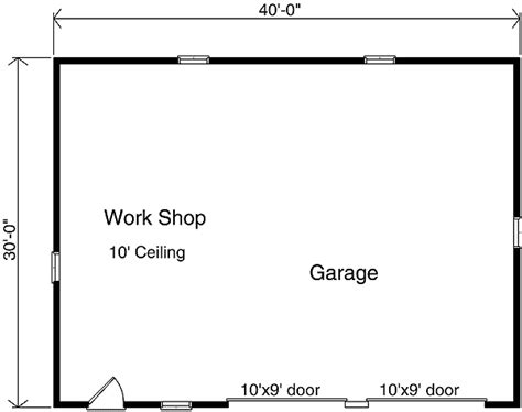two car garage floor plans two car garage with workshop 2283sl cad available pdf