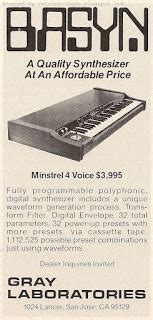 retro synth ads: april 2012