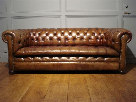 Chesterfield Sofa Sale Uk Sold Antique 3 Seater Brown Leather Chesterfield Antique Sold Gallery