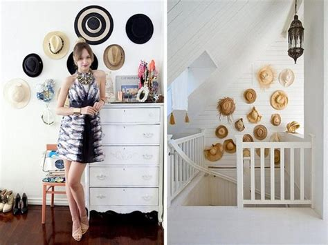 fun wall decorating  hats adds unique accents  home