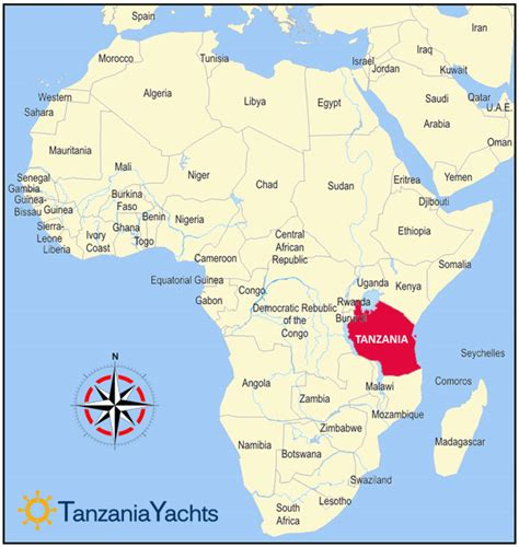tanzania on the world map breann around the world