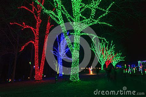 Meadowlark Botanical Gardens Lights by Virginia Festival Of Lights Royalty Free Stock