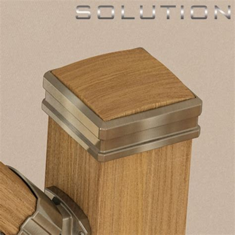Banister Post Caps by Solution Stair Parts Solution Handrail System