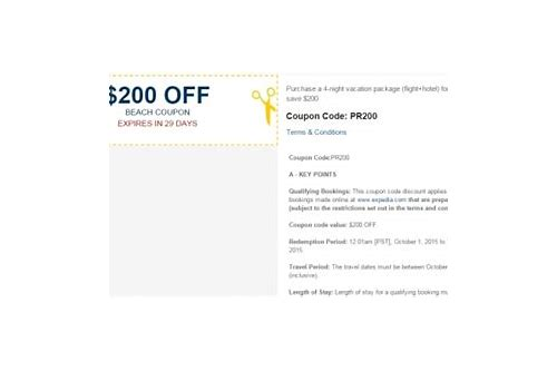 expedia vacation coupons