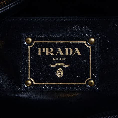 Prada Bn251 Vitello Shine Black Nero prada vitello shine tote nero black 75951