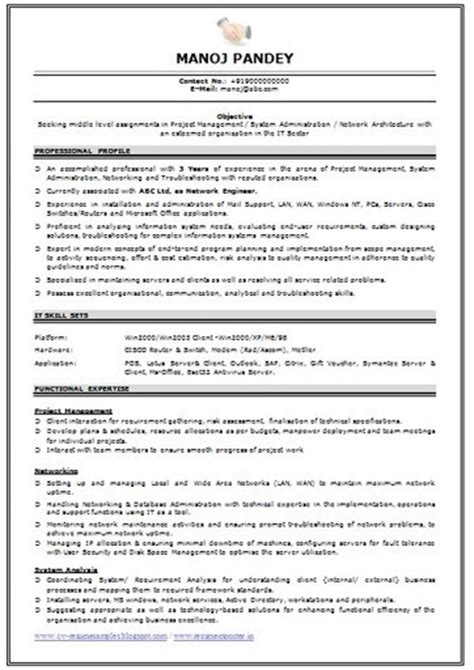 networking fresher resume format network engineer resume for freshers resume ideas