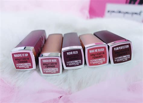 Lipstik Powder Matte Maybelline maybelline powder matte lipstick swatch review carizza chua