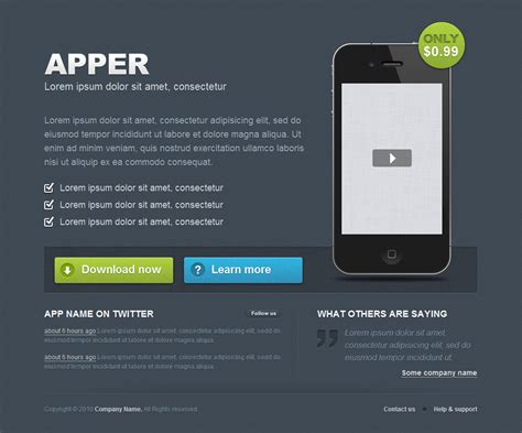 Apper App Presentation Template By Kristofferlidman Themeforest App Presentation Template Free