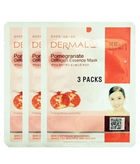 Dermal Pomegranate Collagen Essence Mask dermal pomegranate collagen essence mask 3 pieces