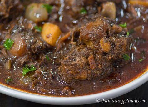 oxtail stew recipe panlasang pinoy