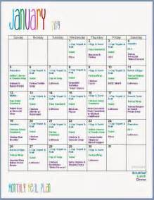 monthly dinner menu template best 25 monthly meal planning ideas on