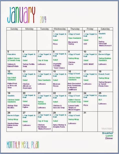 printable diet plan calendar best 25 monthly meal planning ideas on pinterest