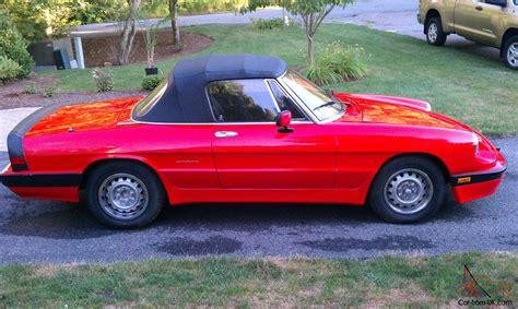 1988 Alfa Romeo by 1988 Alfa Romeo Spider Graduate Convertible 2 Door 2 0l